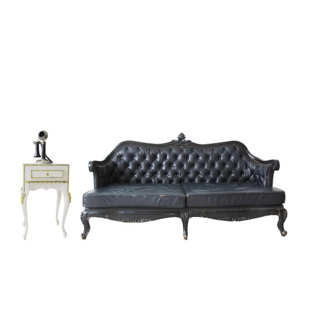 vintage sofa isolated on white  Stock Photo - 18430016
