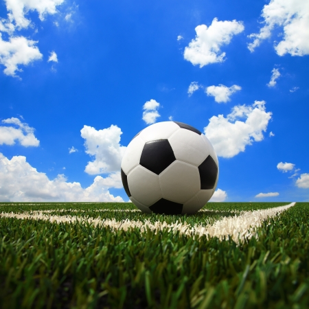 soccer ball on the green field Stock Photo - 19972335
