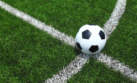 synthetic: soccer field grass  Stock Photo