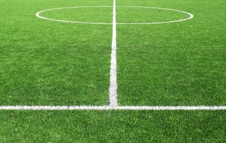 Soccer football field stadium grass line Standard-Bild