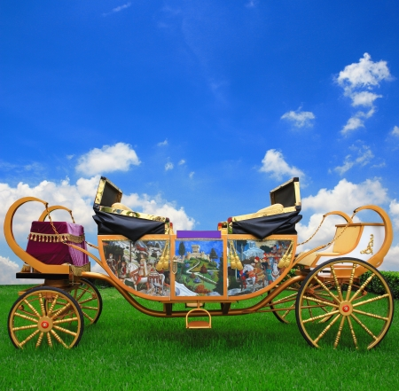 horse drawn carriage: fairy tale carriage