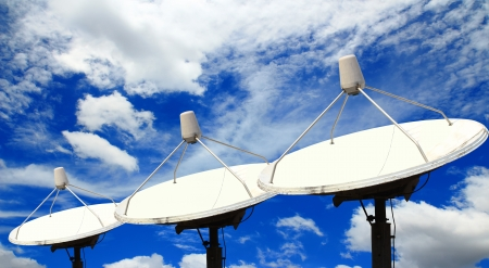 Satellite dishes photo