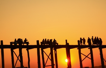 Silhouettes of people  photo