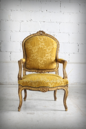 Luxurious armchair vintage photo