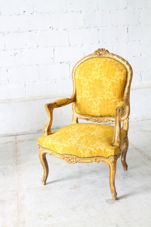 antique furniture: Luxurious armchair vintage