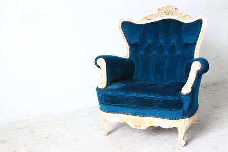 modern sofa: modern dining room with blue sofa