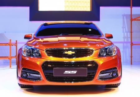 NONTHABURI - NOVEMBER 28  Chevrolet SS car on display at The 30th Thailand International Motor Expo on November 28, 2013 in Nonthaburi, Thailand