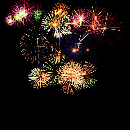 fire shows: Fireworks  Stock Photo