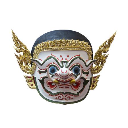 hanuman: Hanuman mask in Khon Thai classical style of Ramayana Story