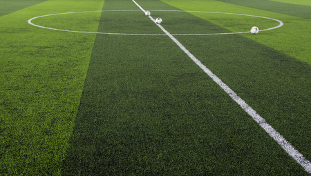cancha de futbol: Fondo verde hierba del campo de fútbol