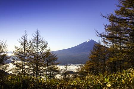 kawaguchi ko: Fuji Mountain in autumn season