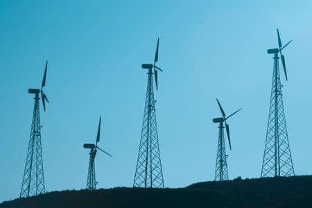 Windmills behind Tarifa Cadiz Province Andalusia Spain photo
