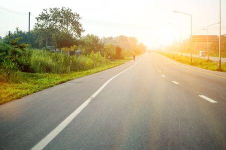 Sunny long road