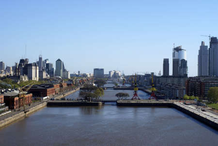 aerial view of puerto madero in buenos aires                   Stock Photo