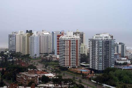 uruguay: Modern buildings at Punta del Este in Uruguay