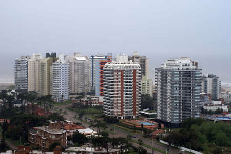Modern buildings at Punta del Este in Uruguay photo