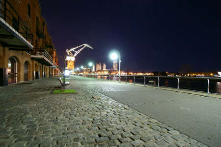 Puerto Madero at night Buenos Aires Argentina              Stock Photo