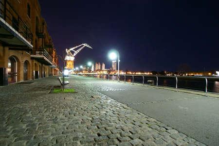 buenos: Puerto Madero at night Buenos Aires Argentina              Stock Photo
