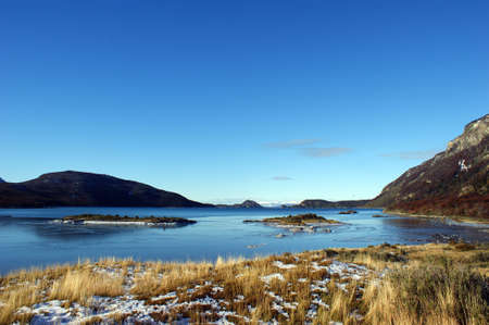 Lapataia bay in Tierra del Fuego national park in Argentina