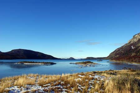fuego: Lapataia bay in Tierra del Fuego national park in Argentina