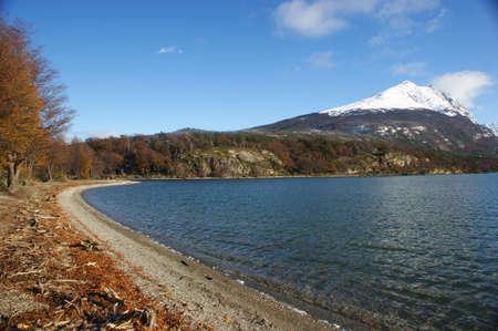 fuego: Lake Roca in the Tierra del Fuego national park