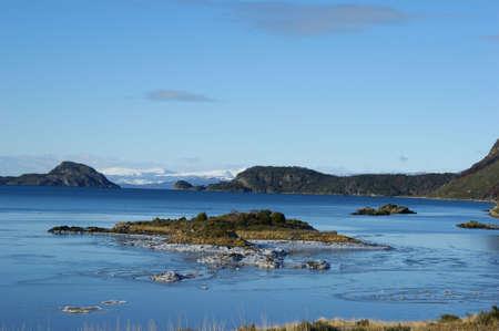 fuego: The Lapataia bay in Tierra del Fuego Stock Photo