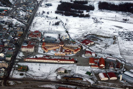 Aerial view of the old prison of Ushuaia Stock Photo - 4909956