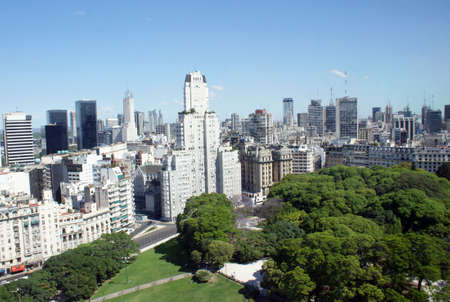 Aerial view of the business district of Buenos Aires