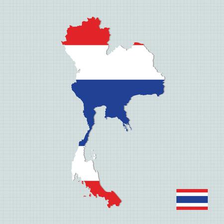 Thailand map,flag