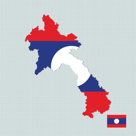 asean: Laos map,flag