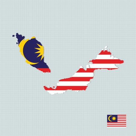 asean: Malaysia map,flag Illustration