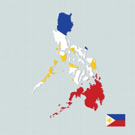 asean: Philippines map,flag