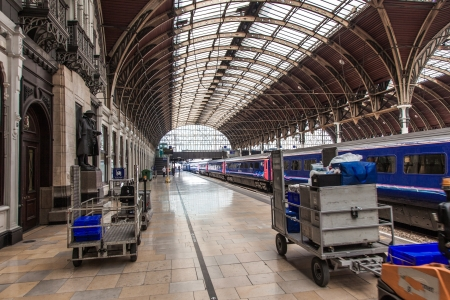 Paddington Train Station In London Town
