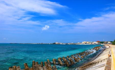 Taiwan Penghu Bay seawall Reklamní fotografie
