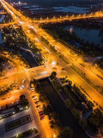 Night scene of road Stock fotó