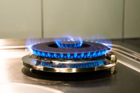 energy use: Gas and energy use in house Stock Photo