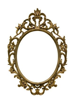 Gold frame vintage style  Reklamní fotografie