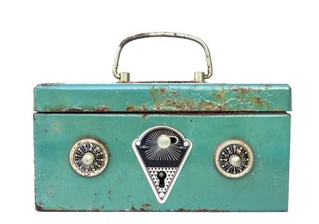 green rusty safe Stock Photo - 19500488