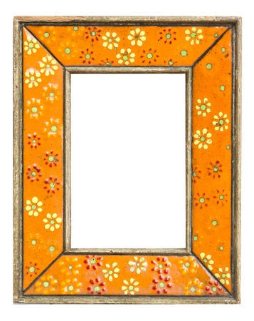 orange vintage frame photo