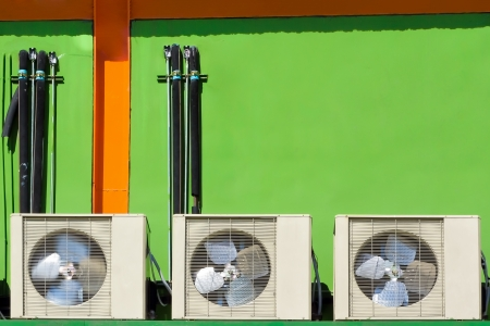 airconditioner and green wall  photo