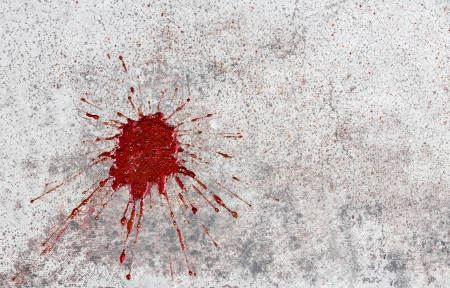 blood paint concrete photo
