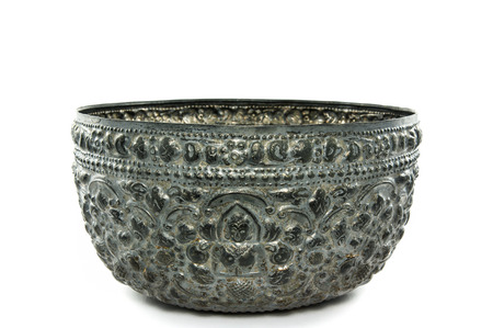 silver antique bowl photo