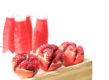 punica granatum: pomegranate juice Stock Photo