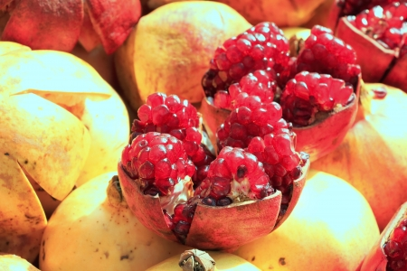 punica granatum: sweet  pomegranate Stock Photo