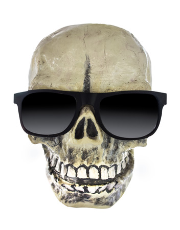 skull wearing sunglasses photo