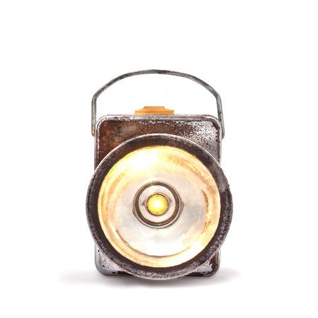 vintage tin searchlight