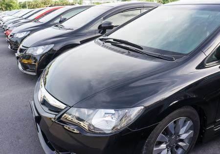 black cars parking photo