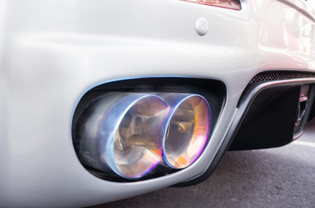 racing exhaust photo