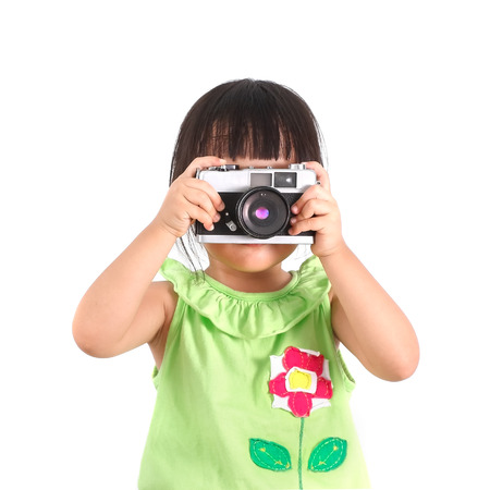 Little asian girl take a photo photo