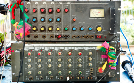 old amplifier mixer